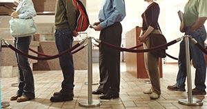 customers queue