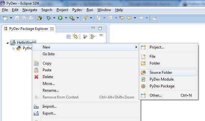 Create New Source Folder