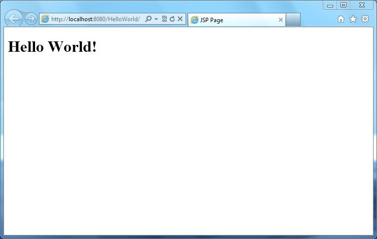 JSP - Hello World - Output