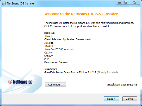 Install NetBeans IDE - Step 1