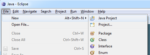 Eclipse - New Java Project