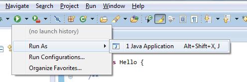 Eclipse - Run the Hello World Program
