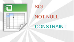 SQL NOT NULL Constraint - Prevent Inserting NULL Values Into