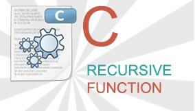 c recursive function